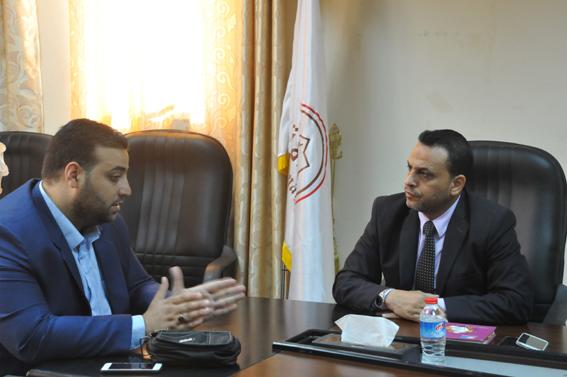 كلية العلوم الشرطية والقانون تلتقي المدير التنفيذي لمركز رواسي فلسطين للفنون والثقافة
