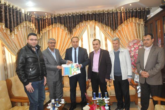 جامعة الأمة تستقبل مدير مركز الإعلام في جامعة بيرزيت – غزة لبحث سبل التعاون وخدمة الطلبة