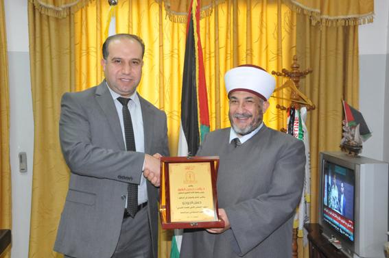 جامعة الأمة تكرم رئيس المجلس الأعلى للقضاء الشرعي