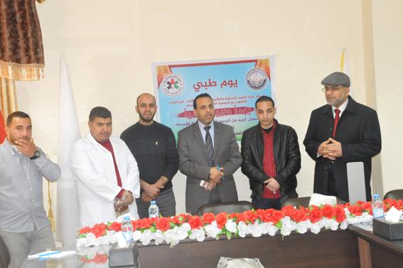 الجمعية الفلسطينية للإسعاف تقيم يومًا طبياً في جامعة الأمة